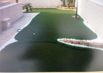 Césped artificial deportivo. Campo de golf