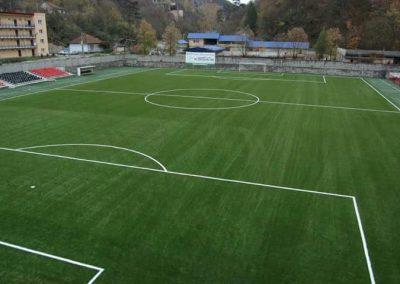 Césped artificial deportivo. Campo de fútbol