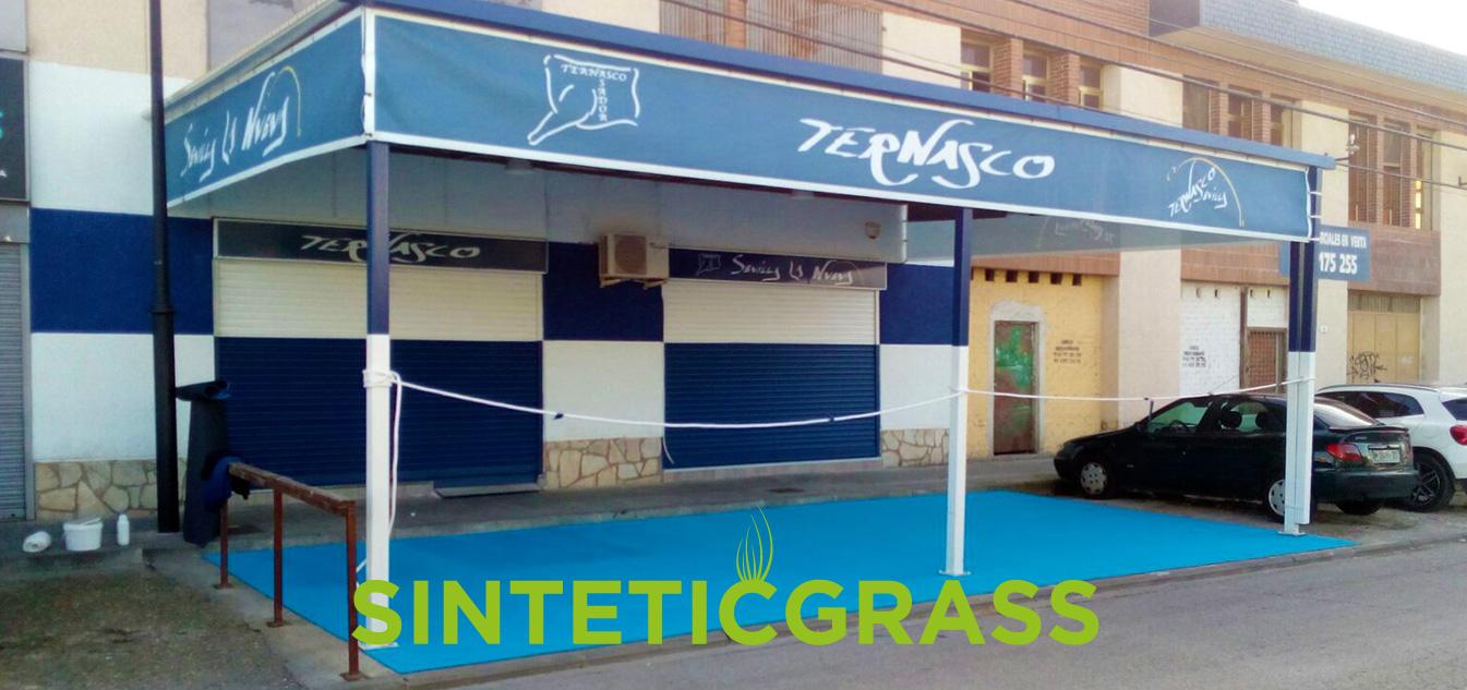 cesped artificial para restaurantes y bares